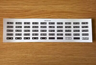 Class 20 Self Adhesive 4 Character Headcode Decals For Lima OO Gauge • 6.62€