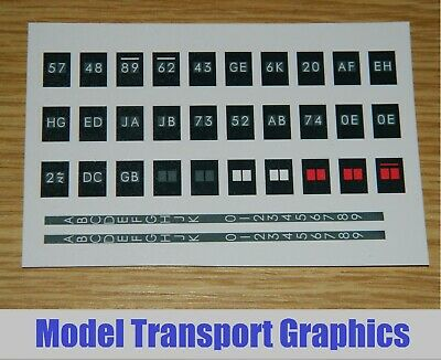 Class 73 OO Gauge Southern Region 2 Character Display Blinds EMUs Dapol & Lima • 6.08€