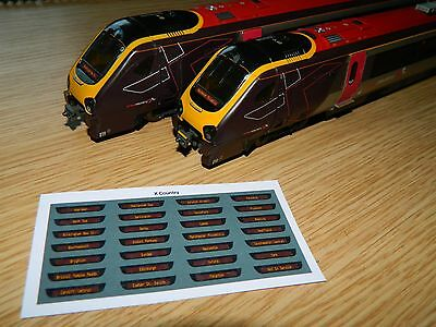 Destination Displays For Bachmann Class 220 221 Voyager DMU Cross Country Trains • 5.51€