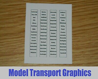 Northern Trains Destination Blinds For Hornby & Bachmann Class 142 150 156 158 • 4.37€