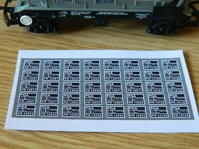 Alternative Numbers Decals For Lima & Hornby YEOMAN PGA Hopper Wagons OO Gauge • 5.51€