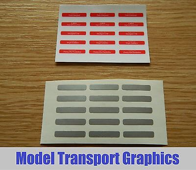 Self Adhesive Nameplates For Hornby Virgin Pendolino Class 390 Train OO Scale • 6.62€