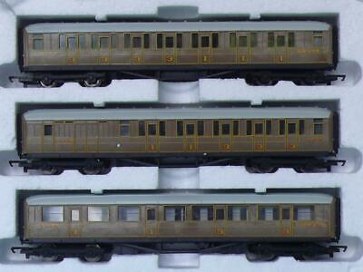 3 HORNBY TEAK COACHES MALLARD FLYING SCOTSMAN LNER Etc BRAKE & COMPOSITES • 38.91€