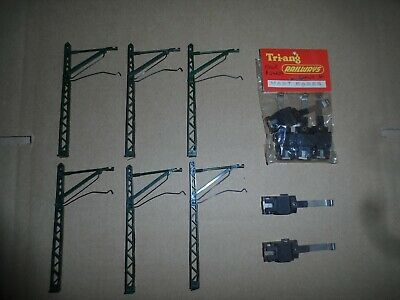6 Triang Model Railways Oo Gauge Catenary Power Masts & Bases • 5.54€