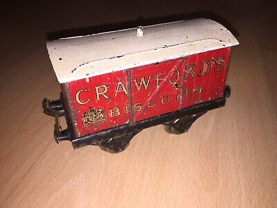 Rare Hornby O Wagon Couvert Crawford's Biscuits Avec Portes Laterales • 29€