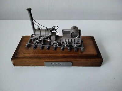 Rare Danbury Mint Fine Pewter Replica Steam Locomotive Model 0-2-2 Rocket 1829 • 28.11€