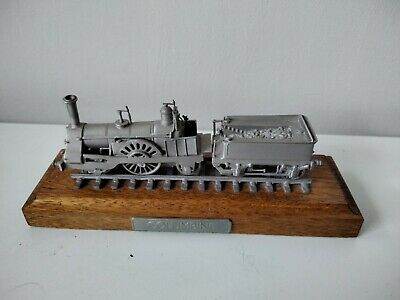 Rare Danbury Mint Fine Pewter Replica Locomotive Model 2-2-2 Columbine 1845 • 28.11€