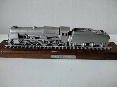 Rare Danbury Mint Fine Pewter Replica Locomotive Lord Nelson 1926 • 28.11€