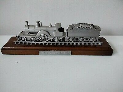 Rare Danbury Mint Fine Pewter Replica Locomotive Midland Spinner 1897 • 28.11€