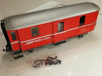LGB 'G' GAUGE 51840 RhB BAGGAGE CAR D 4062 Red Livery Excellent Boxed. • 155.25€