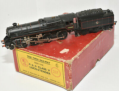 Trix Twin Boxed 237 4-6-0 Class V Locomotive For 2 Rail Operation In Black • 39.38€