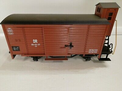 LGB 46265 'G' Scale  DR BROWN LIVERY GOODS WAGON With BRAKEMANS Cab Added Load.  • 89.79€