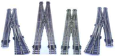 Hornby Spaced 67mm Double Crossing Scissor Crossover Points OO Gauge • 110.98€