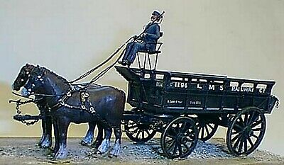 L Ms5ton 2 Horse Drawn Wagon M3 UNPAINTED O Scale Langley Models Kit 1/43 • 76.05€