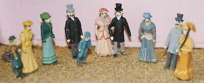 Victorian Edwardian Upper Class F8p PAINTED OO Scale Model People Figures Metal • 38.41€