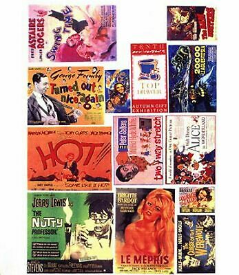 Theatre Posters Small Paper Copy Enamel Signs SMF43 Colour OO Scale Model Decals • 3.91€