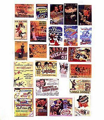 Cinema Posters Paper Copy Of Enamel Signs SMF40 Colour OO Scale Models Decals • 3.91€