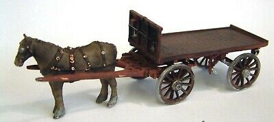 Horse Drawn Railway Flatbed Wagon M23 UNPAINTED O Scale Langley Model Kit Metal • 61.45€