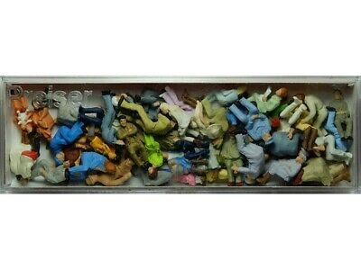 PREISER 14416 - 48 Personnages Assis - HO 1/87 • 49.90€