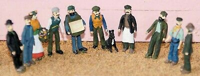 Victorian Edwardian Working Class F9p PAINTED OO Scale Models People Figures • 38.41€