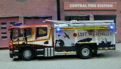 Scania Fire Truck, Shropshire With Working Emergency Lights • 51.97€