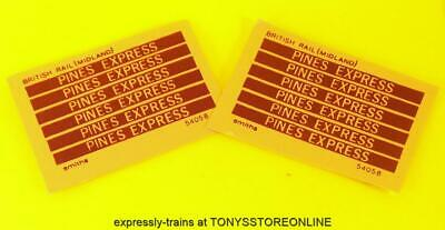 Oo New Spares - 12x Smiths Adhesive Coach Labels - The Pines Express • 3.95€