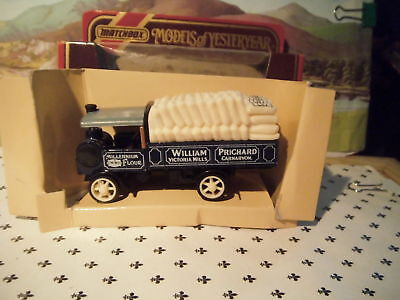 Matchbox Yesteryear 1917 Yorkshire Steam Wagon Pritchard  Flour Sack  Y8 Red Box • 9.77€