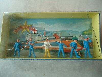 Starlux 1/87  6 Personnages Ouvriers Pour Diorama Ref 22 • 12€