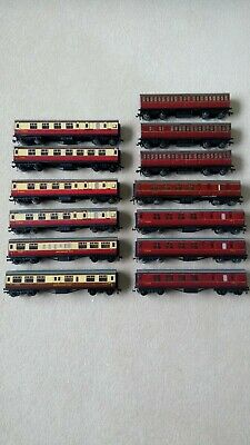 Job Lot Of 13 Hornby Dublo Carriages Plus 1 Triang Wagon. • 45€
