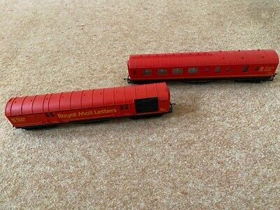 Hornby 00 Gauge Royal Mail TPO Coaches X2 NSX80363 80868 Used Unboxed • 33.75€