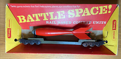 Triang Hornby R239K Battle Space Bomb Transporter Wagon OO Gauge Boxed Vintage • 56.24€