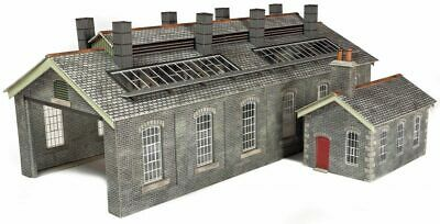 PO337 Metcalfe OO Gauge Model Railway Settle & Carlise Double Track Engine Shed • 24.53€