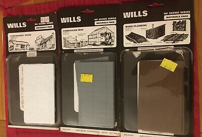 Wills OO Scale Scenic Series Materials Pack For Buildings X 3. New.  • 4.66€
