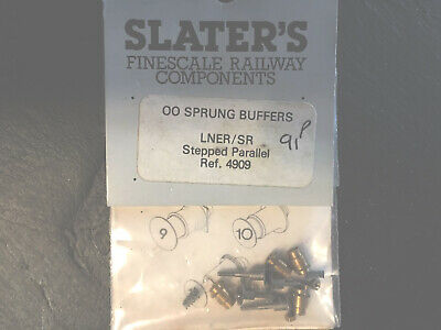 4mm SLATERS LNER  SR SPRUNG BUFFERS  STEPPED PARALLEL • 7.86€
