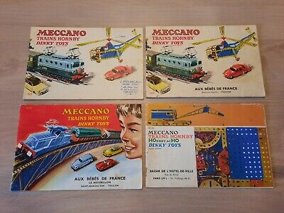 Meccano Trains Hornby Dinky Toys Lot4 Catalogues 1957 1958 1960/61 • 29.99€