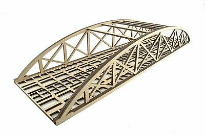 WWS Double Track Low-Detail MDF Bowstring Bridge 450mm – OO/HO Model Railway • 16.28€