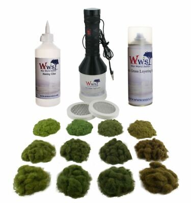 WWS Pro Grass Grand Static Grass Applicator Four Seasons & Glue Kit – Railway • 166.53€