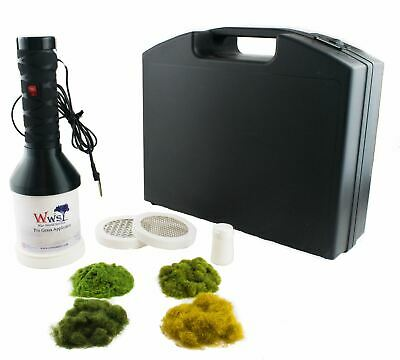 WWS Pro Grass Grand Static Grass Applicator Starter Kit – Model Railway Flock • 127.66€
