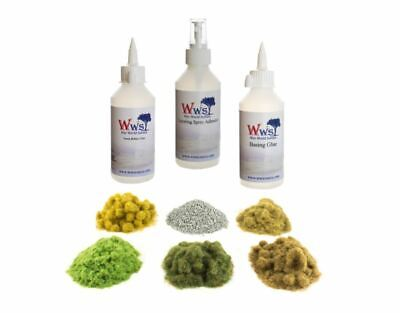 WWS Embankment Static Grass, Ballast & Glue Kit – Model Railway Diorama • 38.68€