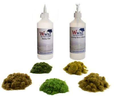 WWS Static Grass Embankment & Glue Kit – Model Railway Wargame Terrain Diorama • 33.89€