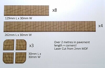 OO Gauge Pavement Sections  Over 2 Metres Plus 12 Corners! • 7.65€