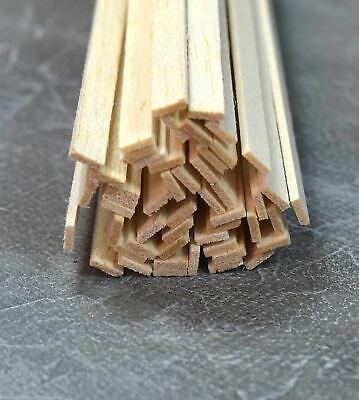 WWS Balsa Wood Strips 1.5 X 6.5 X 305 Mm (1/16 X 1/4 X 12 Inch) - 45 Pack • 11.44€