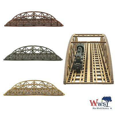 WWS Double Track N-Gauge MDF Railway Bowstring Bridge 200mm (Choose Colour) • 16.84€