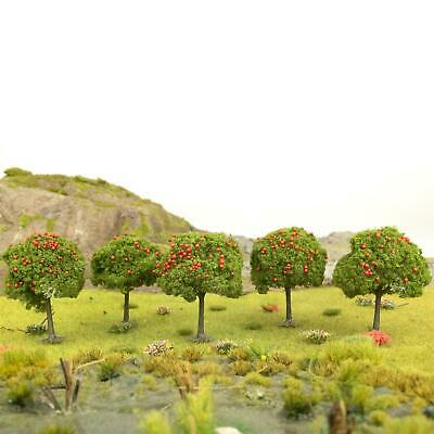 WWS Apple Tree Red Fruits 55mm Mid Green (Choose Quantity) - OO Gauge Scenery • 39.54€