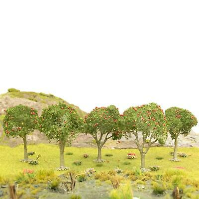 WWS Apple Tree Red Fruits 80mm Mid Green (Choose Quantity) - OO Gauge Scenery • 45.19€