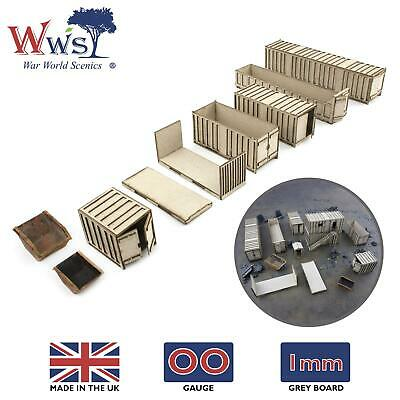 WWS OO Gauge Shipping Containers – Model Railway 00 Railroad Diorama Landscape • 14.04€