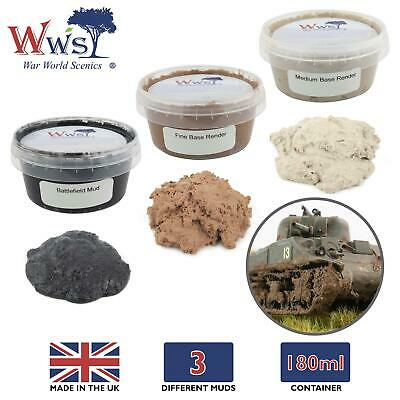 WWS Model Muds 180ml Tub – Model Railway Wargame Effect Base Render Bog Muddy • 16.84€