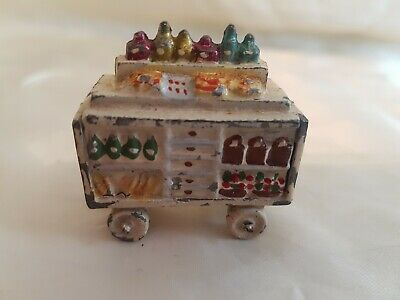 Jouet Ancien Hornby O France Chariot Pour Personnage Gare Zamac Plomb • 29.99€