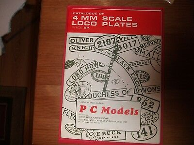 Catalogue Of 4mm Scale Loco Plates / Train • 6.63€