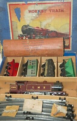 HORNBY O GAUGE  No 2 SPECIAL MIXED GOODS SET IN LMS RED LIVERY • 326.05€